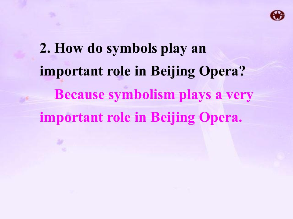2. How do symbols play an important role in Beijing Opera