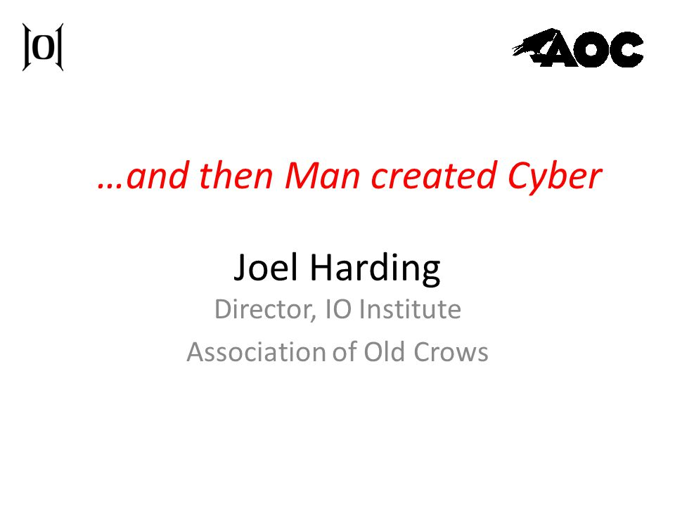 Director, IO Institute Association of Old Crows