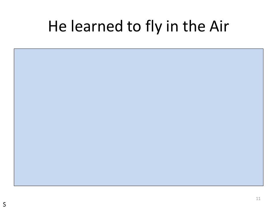 He learned to fly in the Air