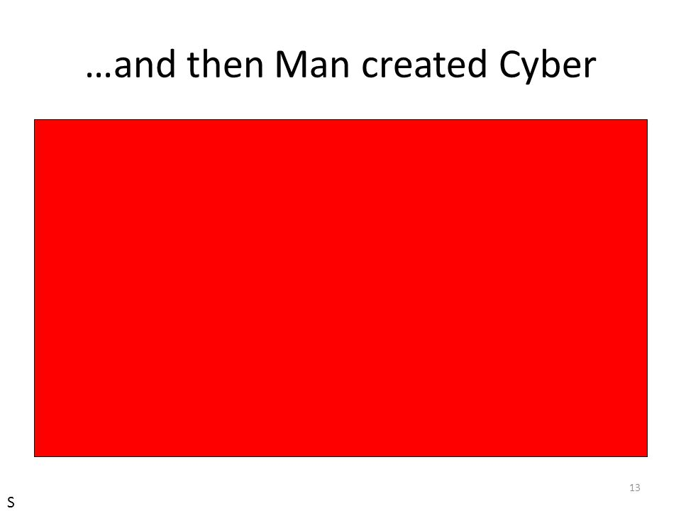 …and then Man created Cyber