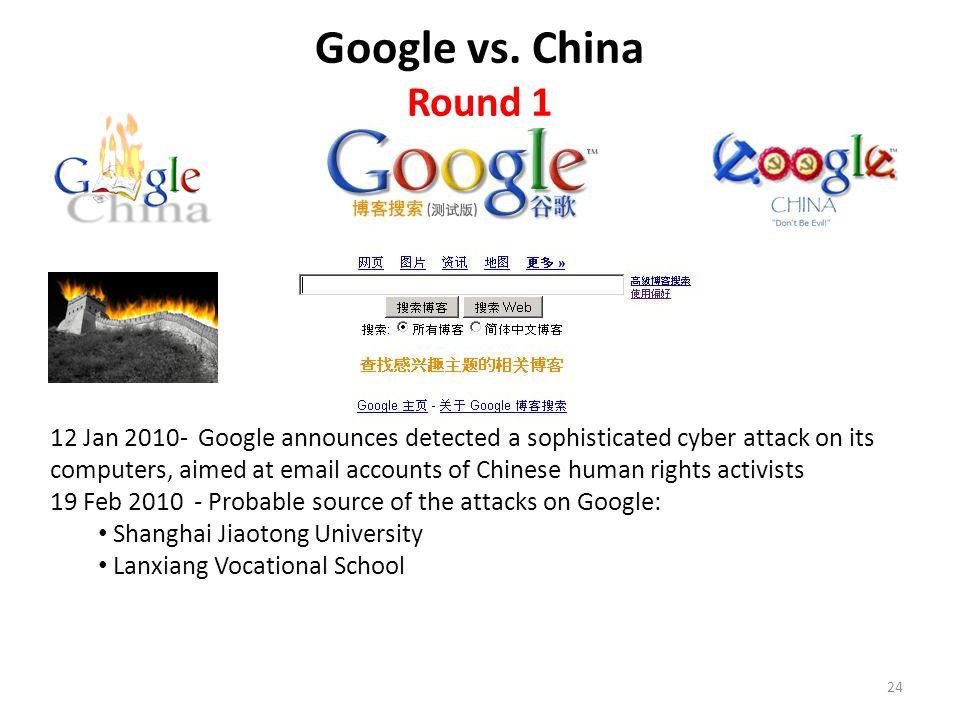 Google vs. China Round 1.