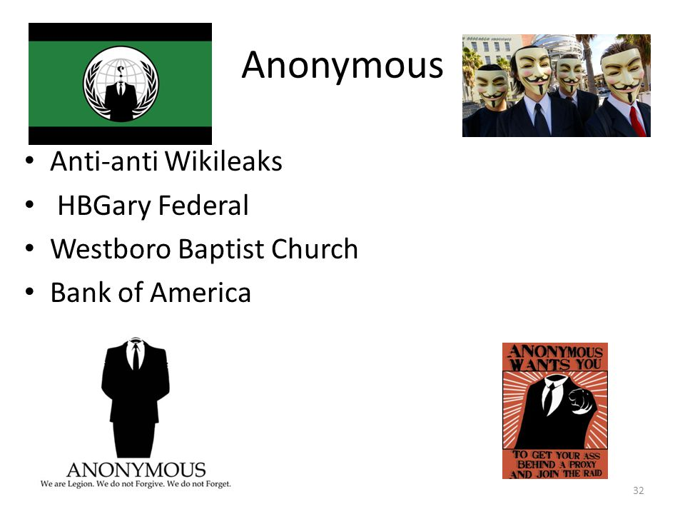 Anonymous Anti-anti Wikileaks HBGary Federal Westboro Baptist Church