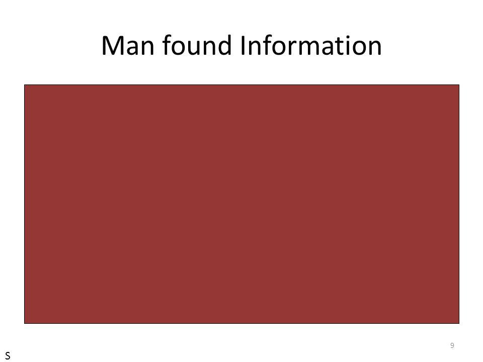 Man found Information S