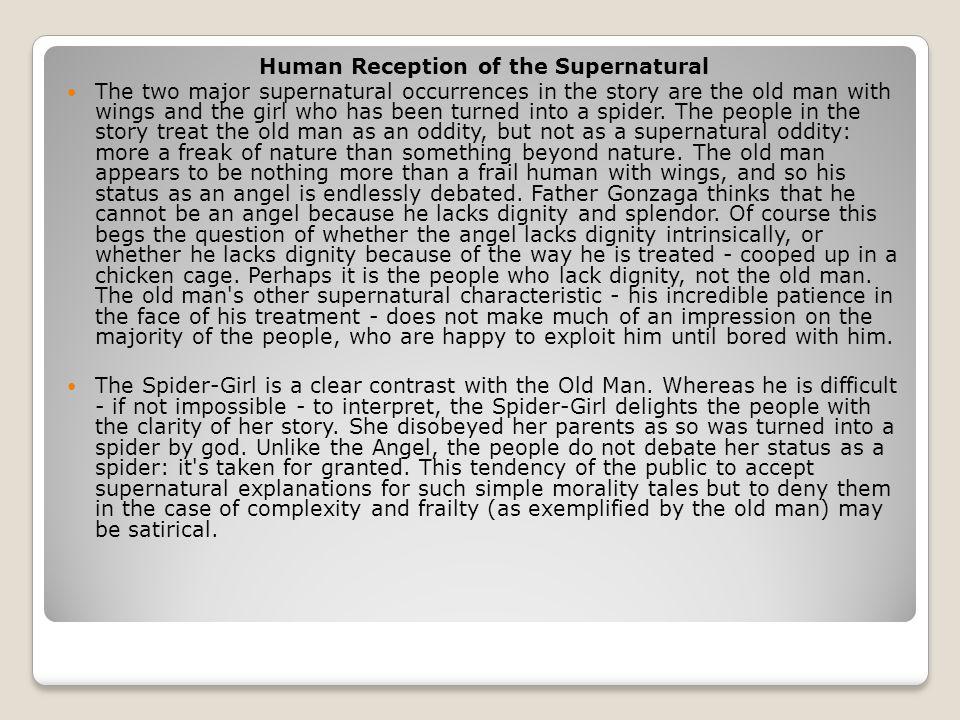 Human Reception of the Supernatural