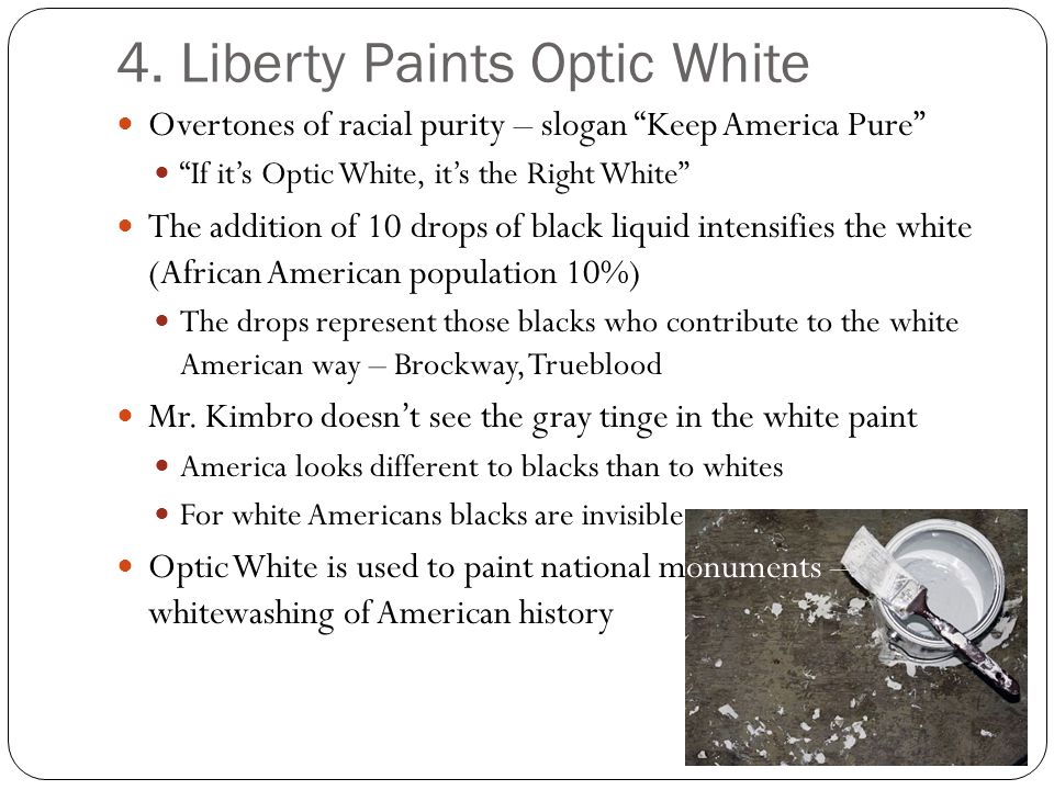 4. Liberty Paints Optic White