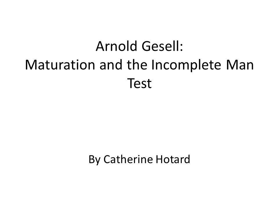 gesell maturation