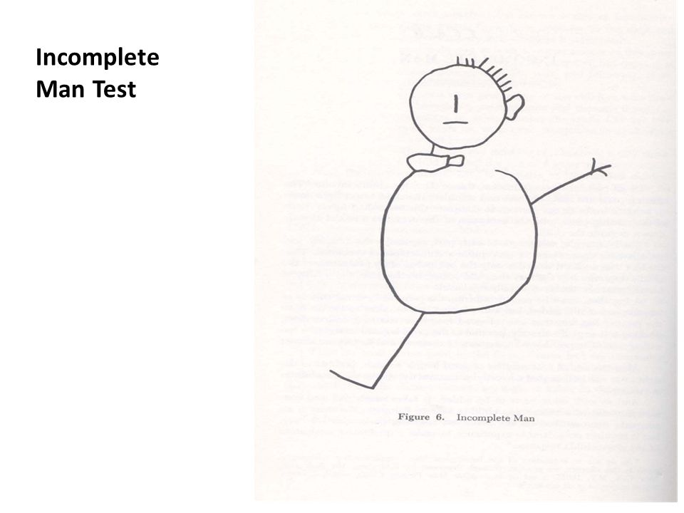 Incomplete Man Test