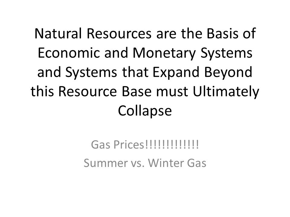 Gas Prices!!!!!!!!!!!!! Summer vs. Winter Gas