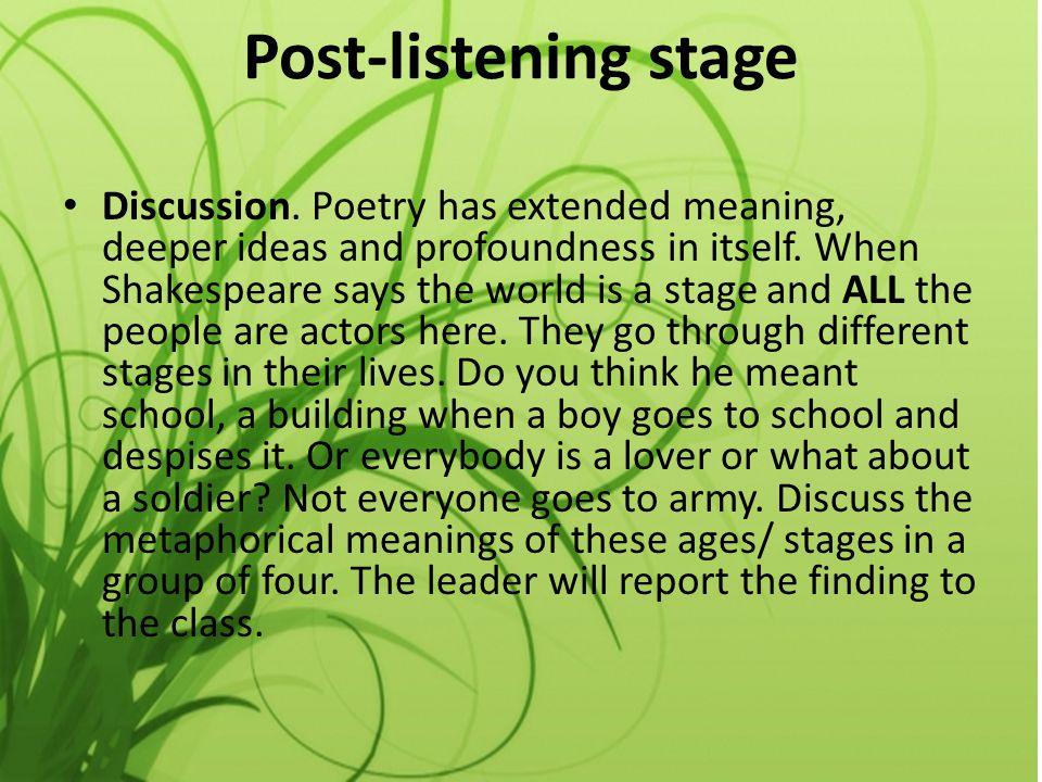 Post-listening stage