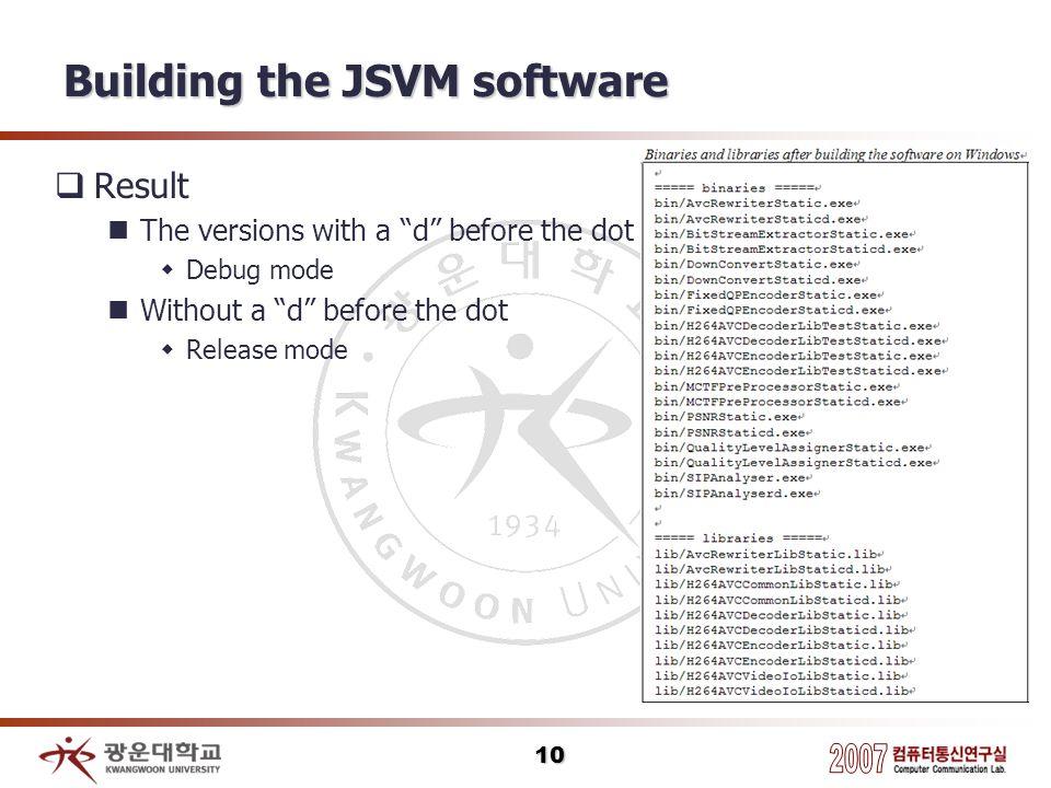 Building the JSVM software