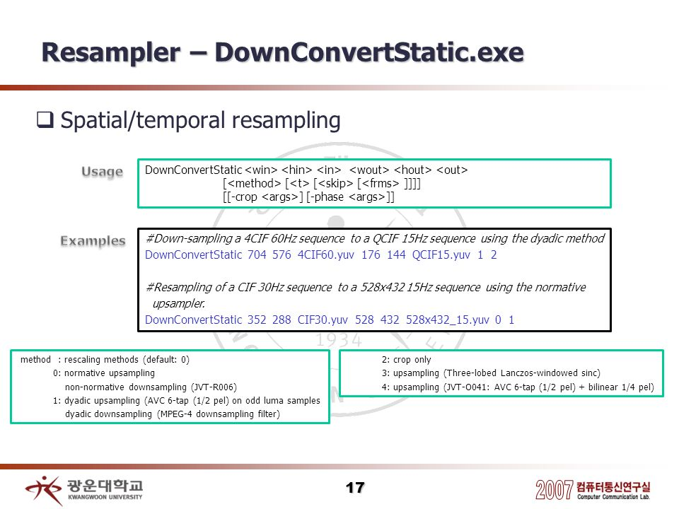 Resampler – DownConvertStatic.exe