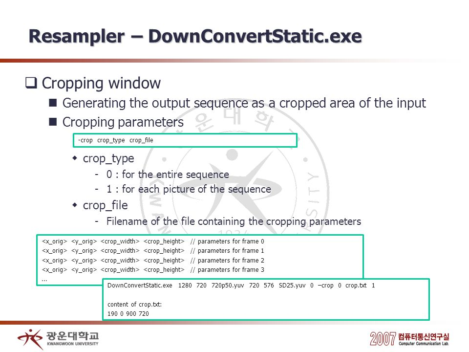 Resampler – DownConvertStatic.exe