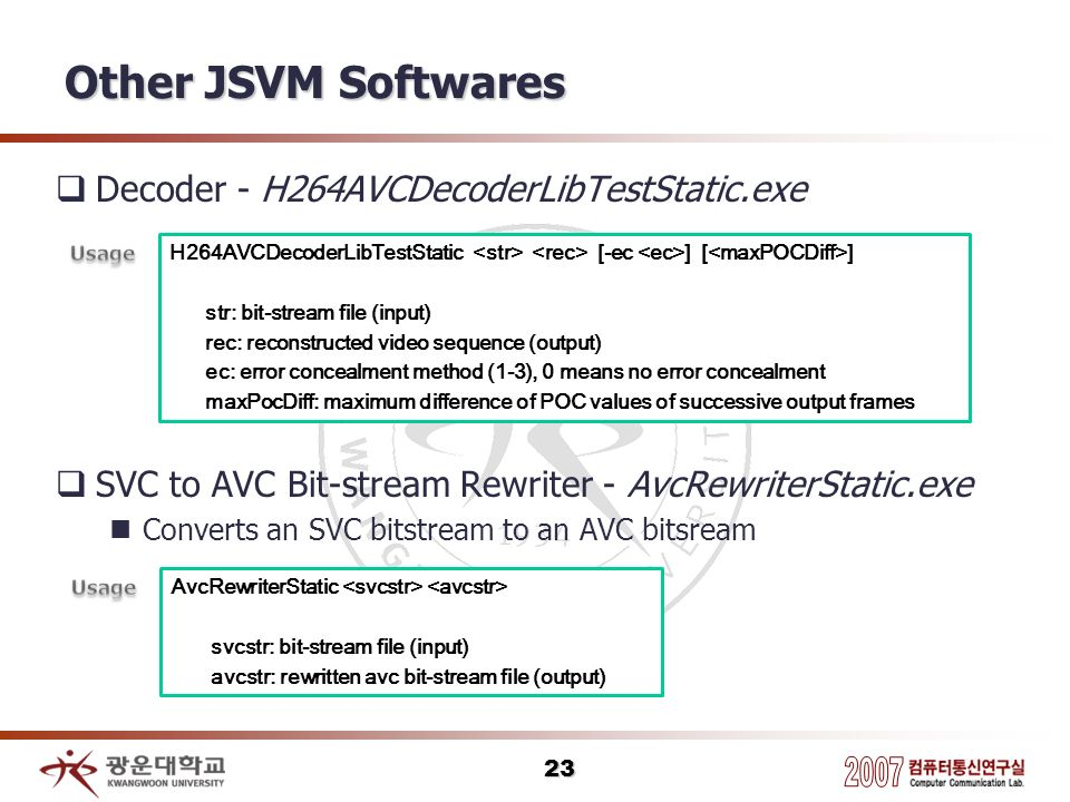 Other JSVM Softwares Decoder - H264AVCDecoderLibTestStatic.exe