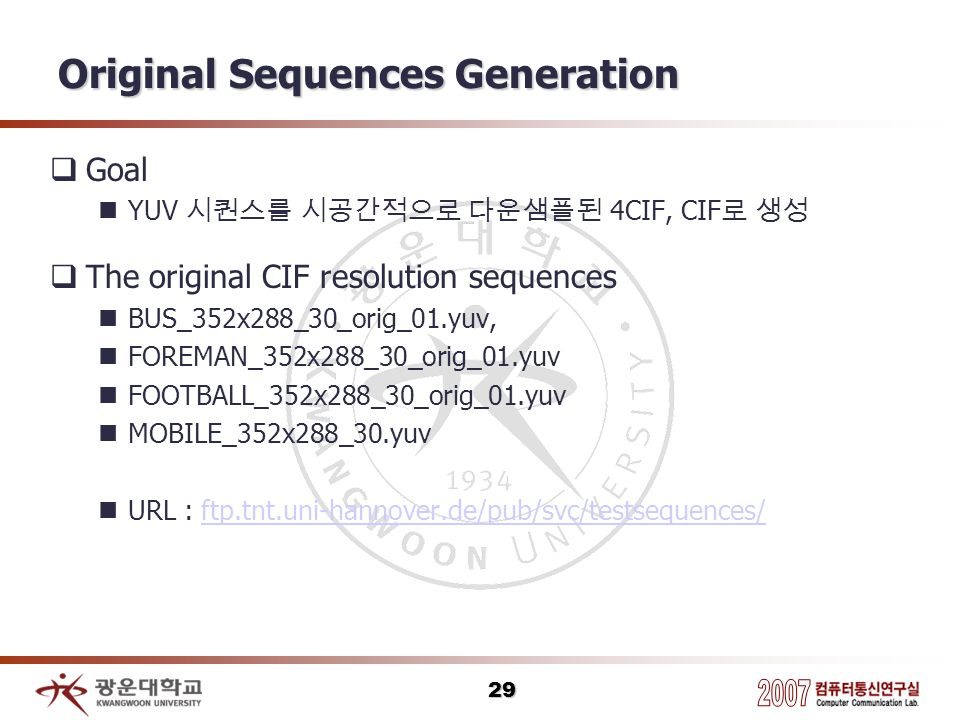 Original Sequences Generation