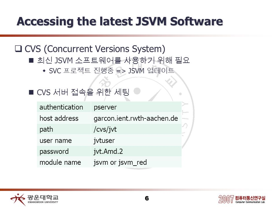 Accessing the latest JSVM Software