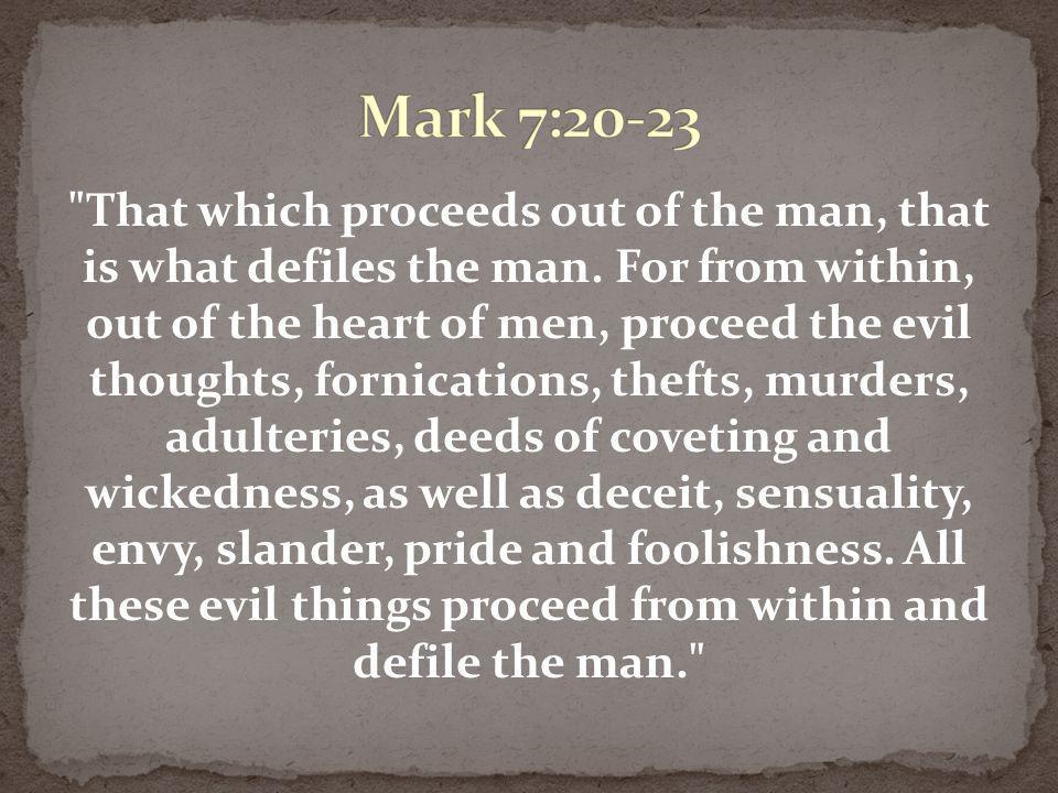 Mark 7:20-23