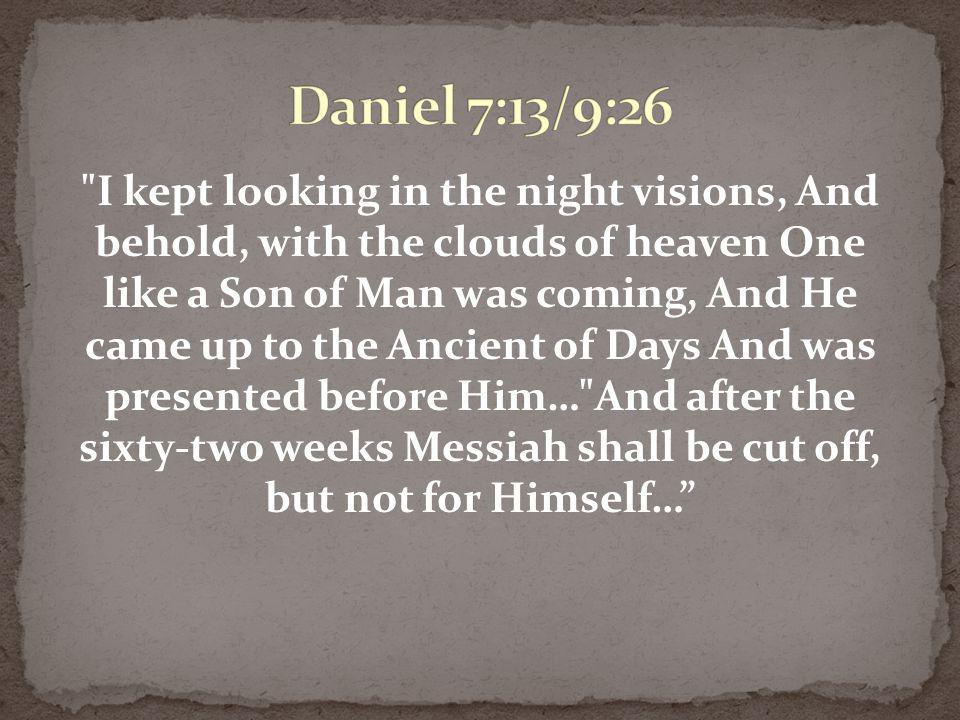 Daniel 7:13/9:26