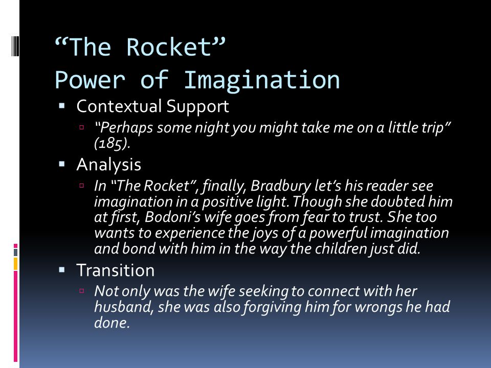 The Rocket Power of Imagination