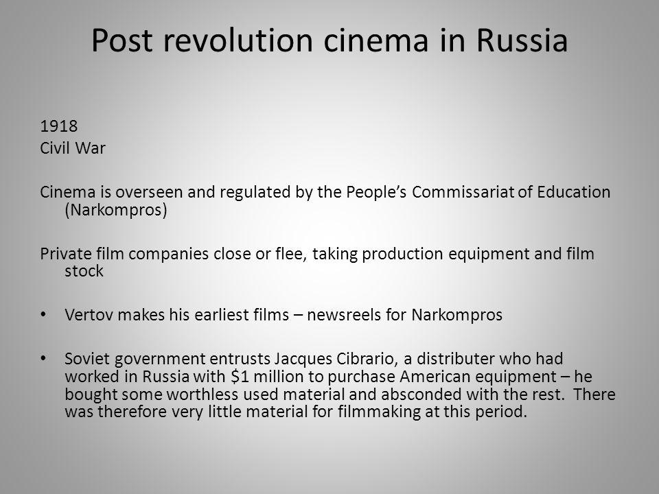 Post revolution cinema in Russia