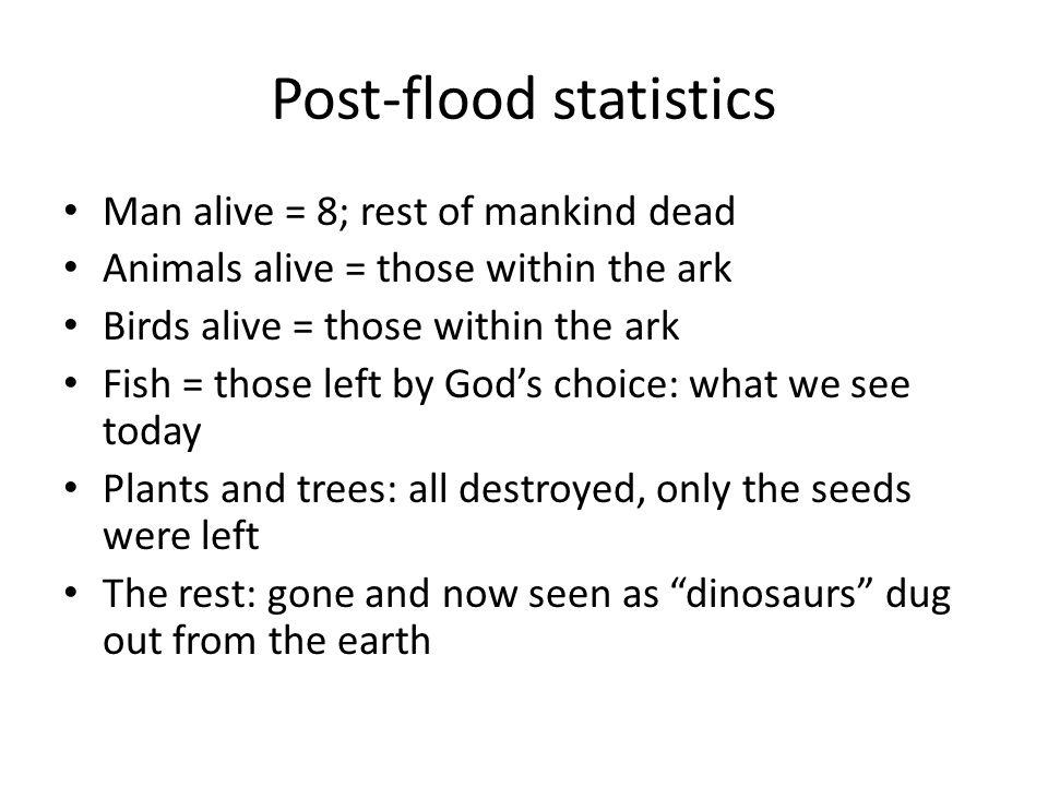 Post-flood statistics