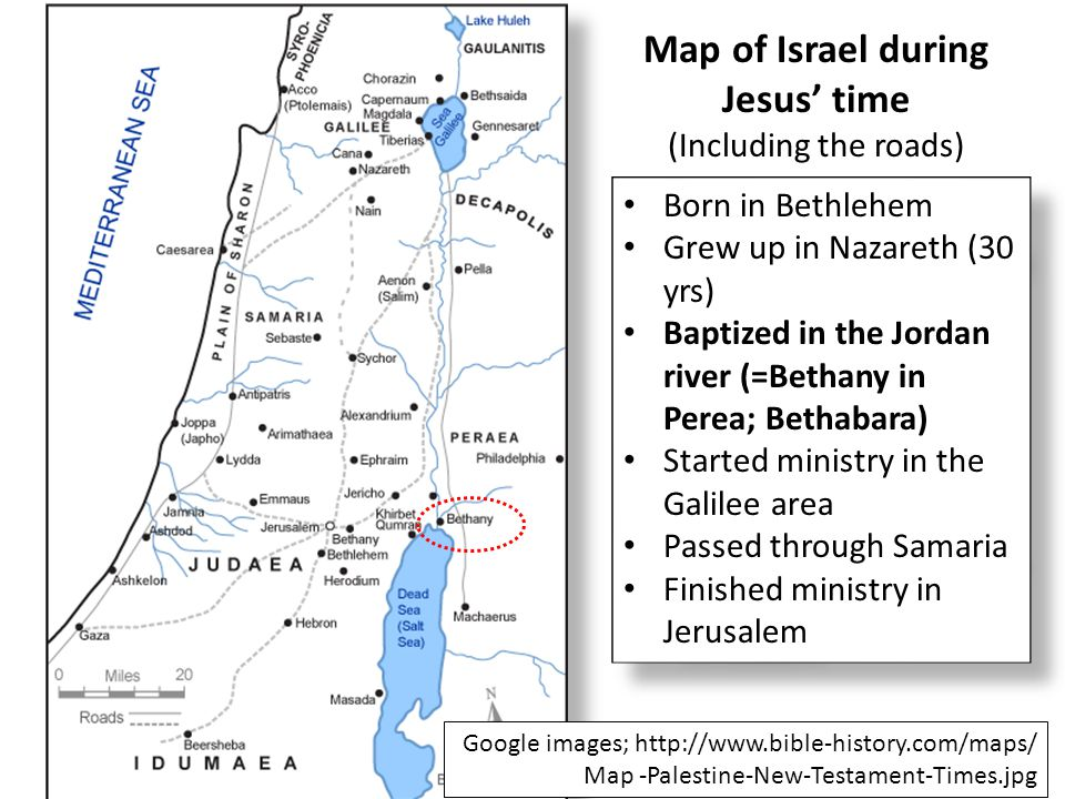 Map of Israel during Jesus' time