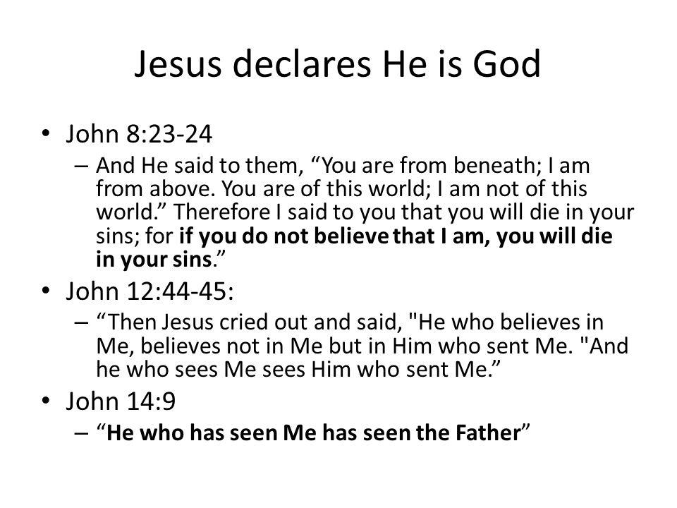Jesus declares He is God