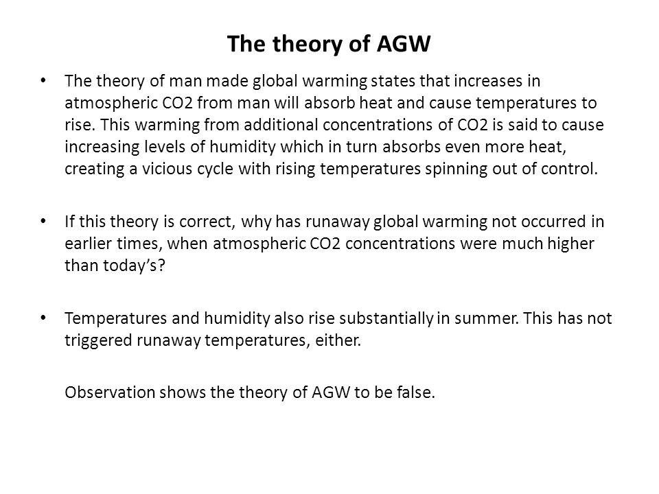 The theory of AGW