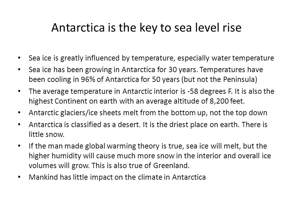 Antarctica is the key to sea level rise