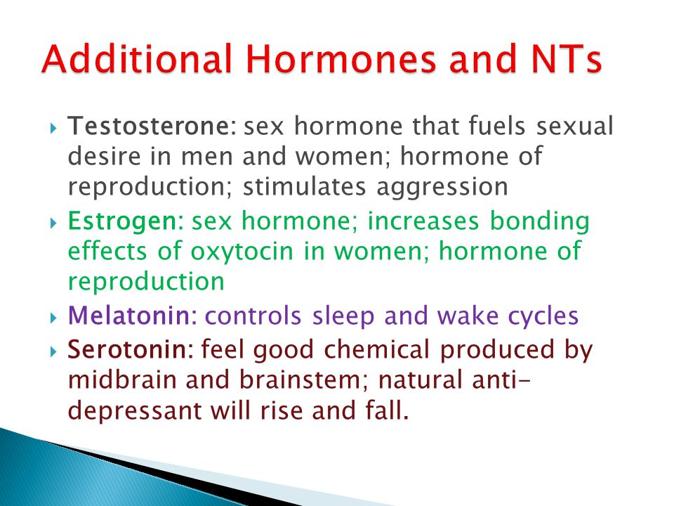 Additional Hormones and NTs
