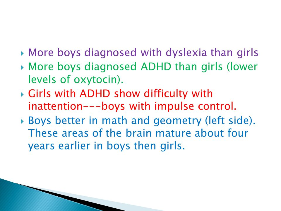 More boys diagnosed with dyslexia than girls