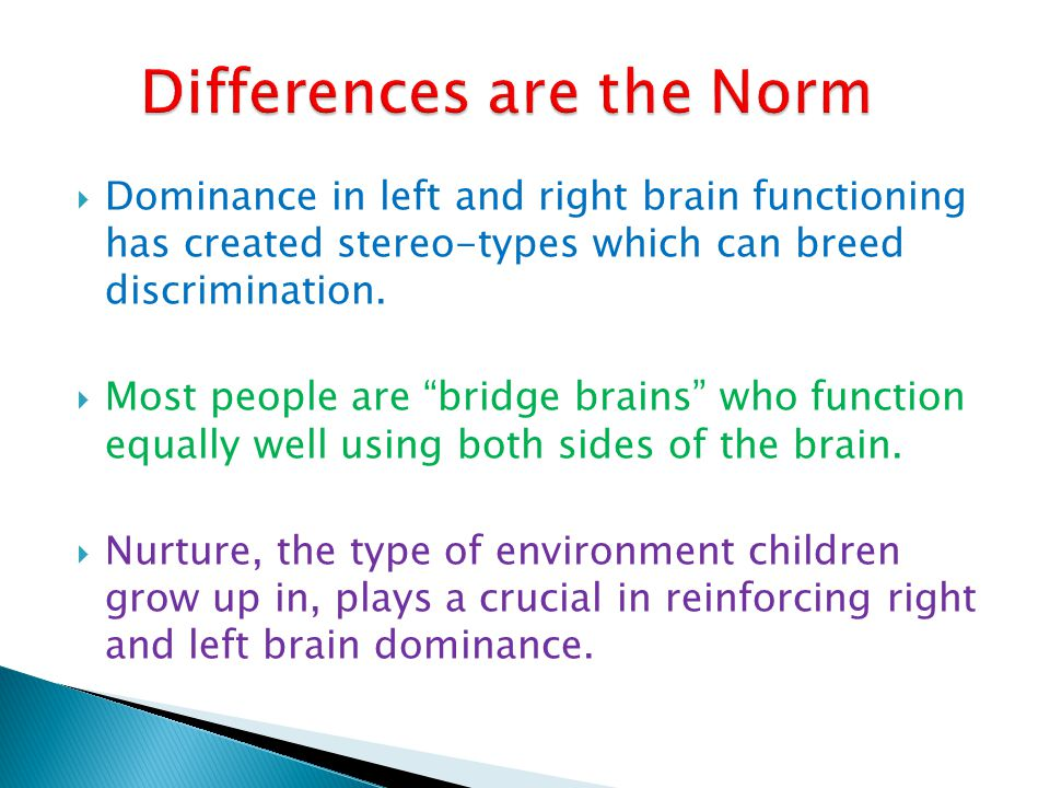 Differences are the Norm