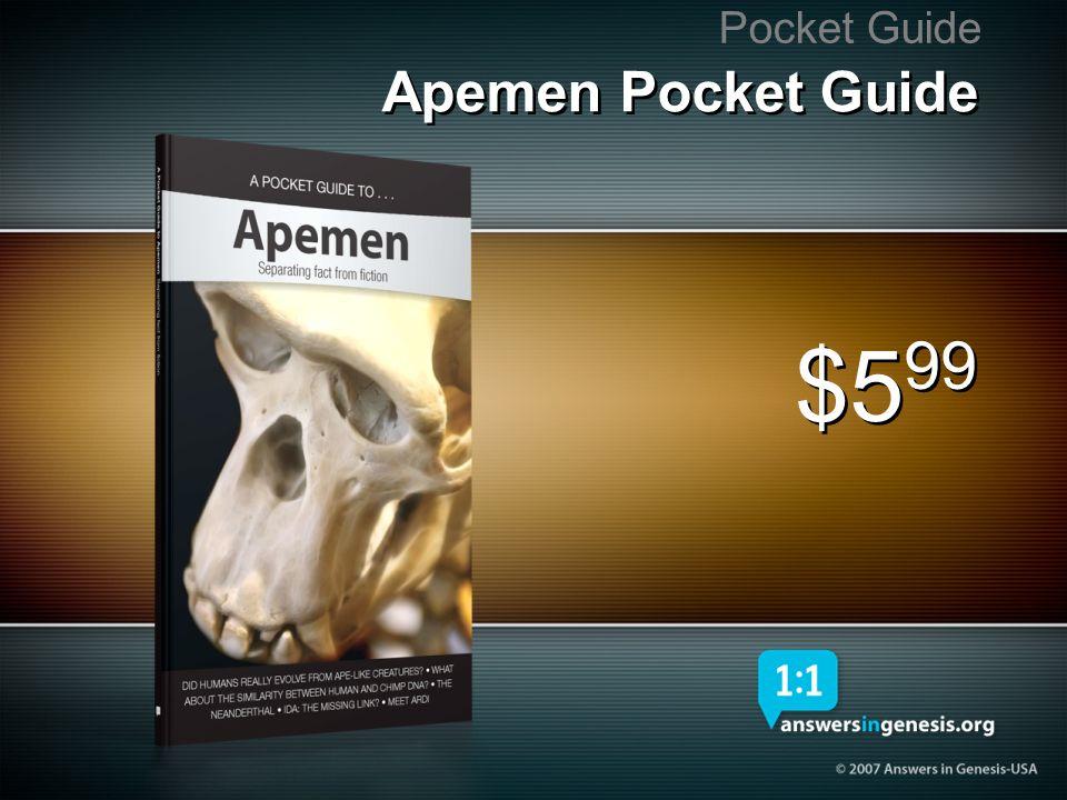 Pocket Guide Apemen Pocket Guide $599