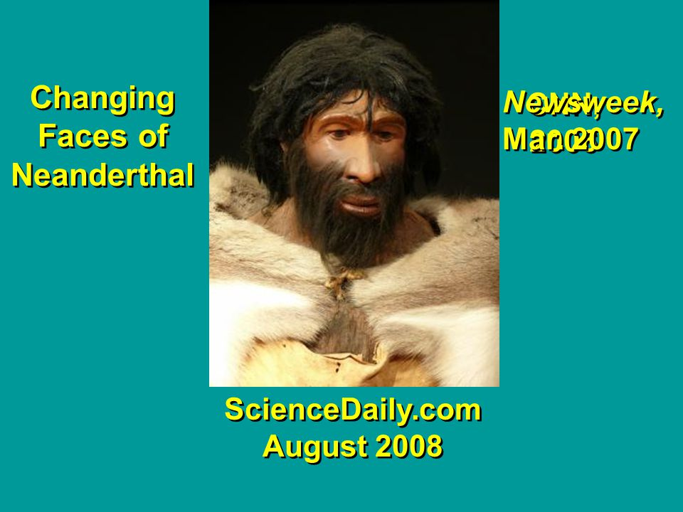 Neanderthal man—changing pictures: TIME magazine