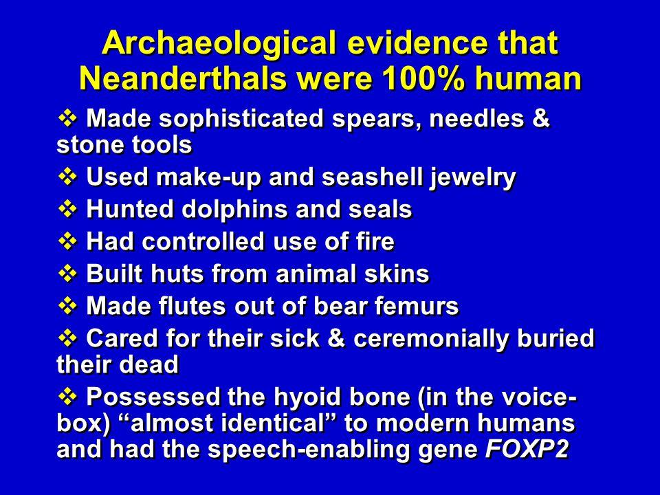 Neanderthals--archeology