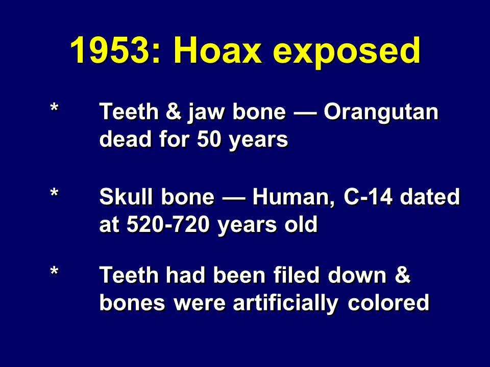 1953: Hoax exposed Piltdown Man #2