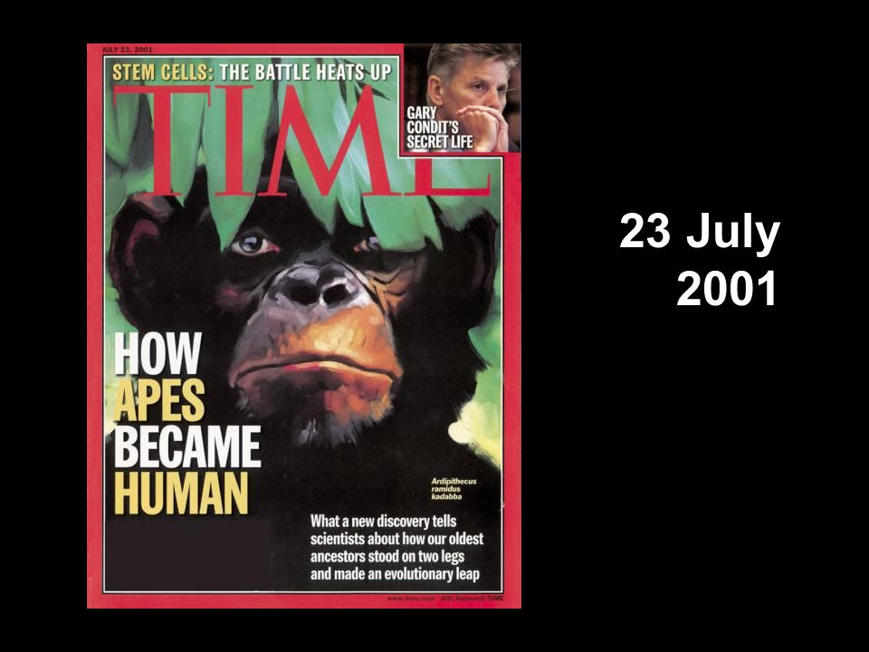 TIME cover, 23 July 2001 23 July 2001