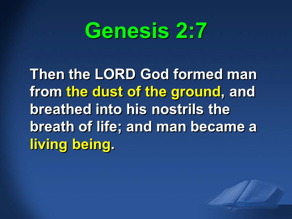 Gen. 2:7 NAS Genesis 2:7.