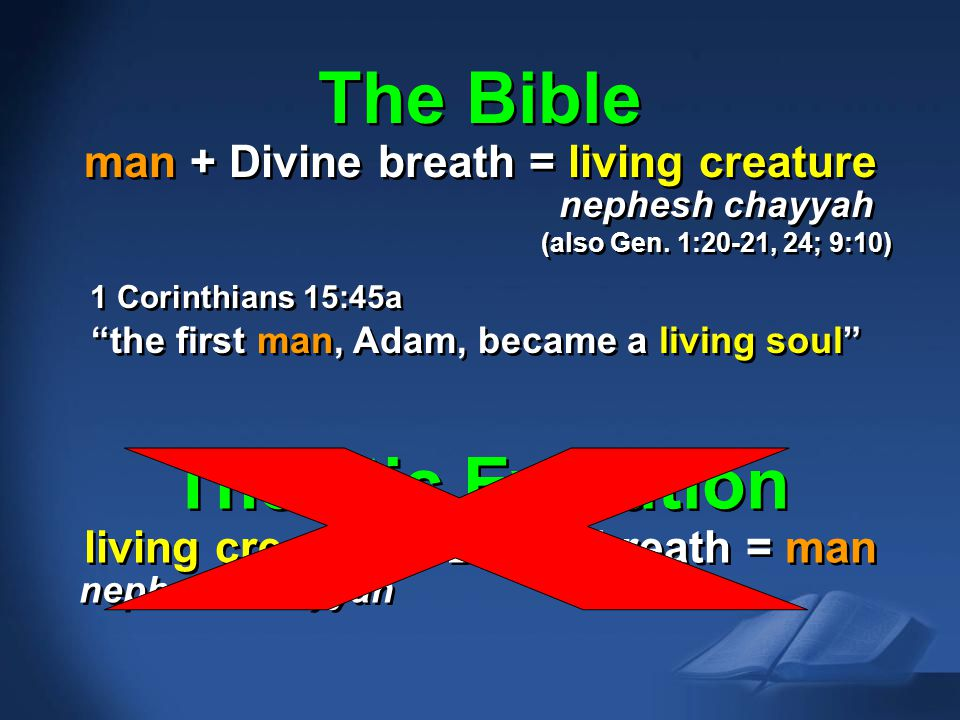 The Bible Theistic Evolution