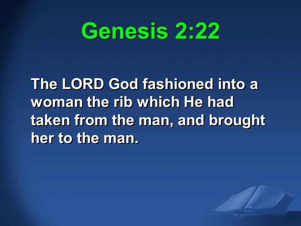 Gen. 2:22 NAS Genesis 2:22.