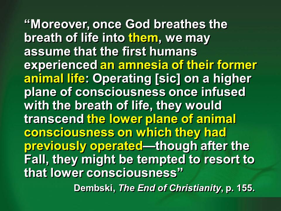 Dembski 2009, p. 154-155—humans vs animals #4