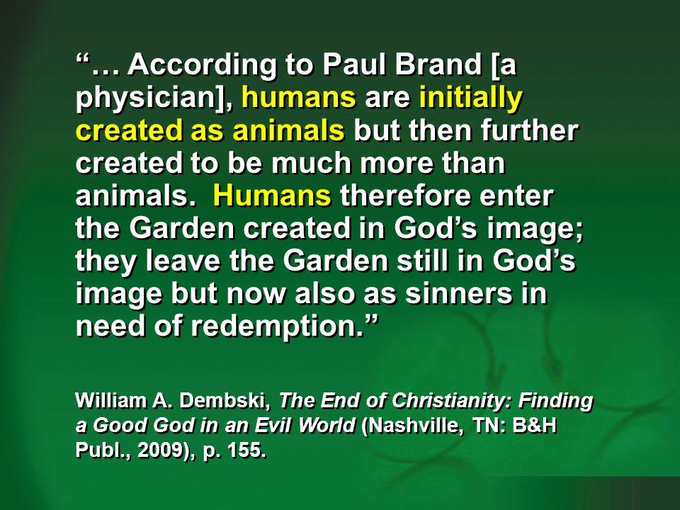 Dembski 2009, p. 154-155—humans vs animals #5