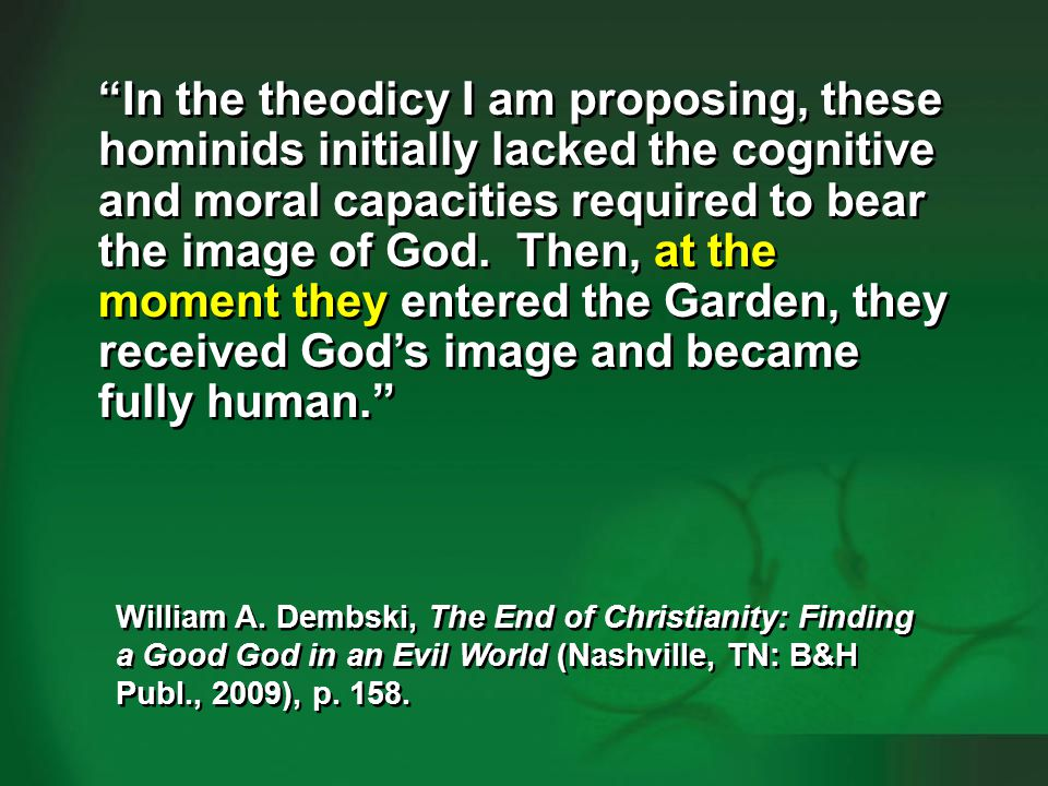 Dembski 2009, p. 158-159—human evolution #3