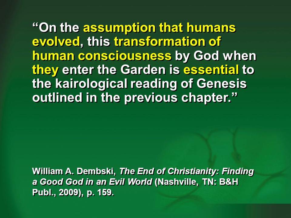 Dembski 2009, p. 158-159—human evolution #7