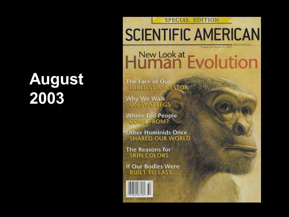 Scientific American cover, August 2003