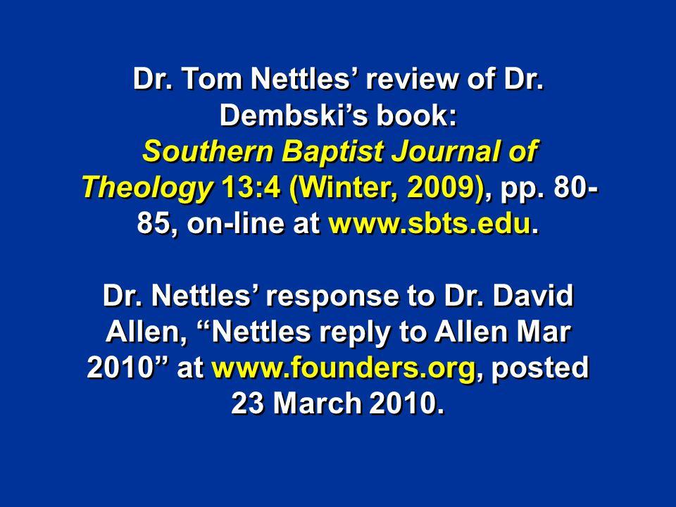 Nettles Review of Dembski 2009