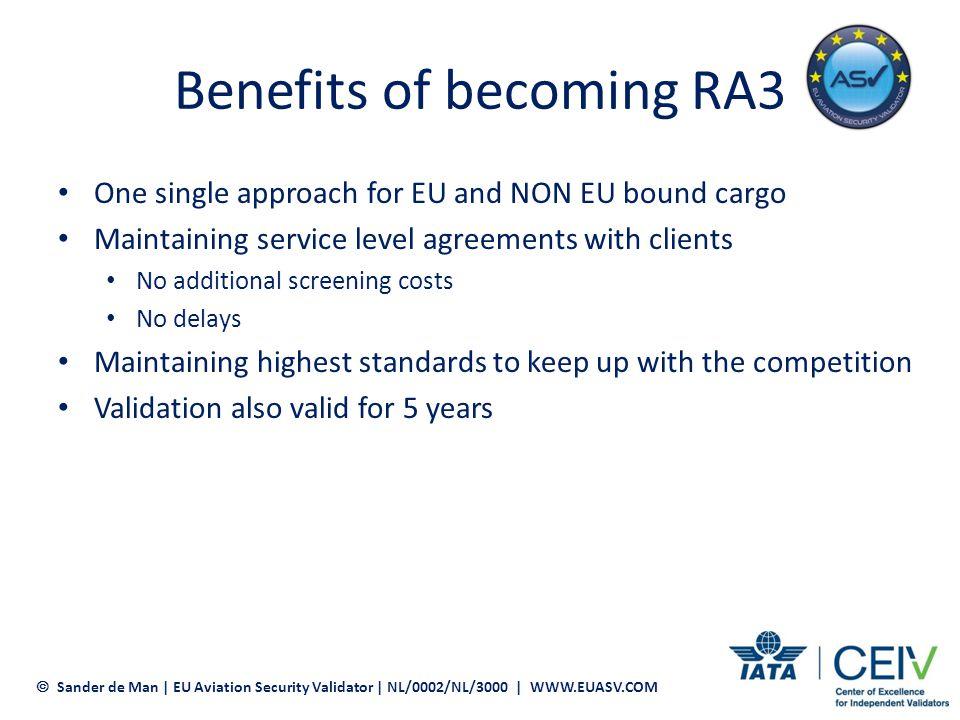 Benefits of becoming RA3