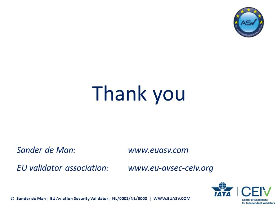 Thank you Sander de Man: www.euasv.com