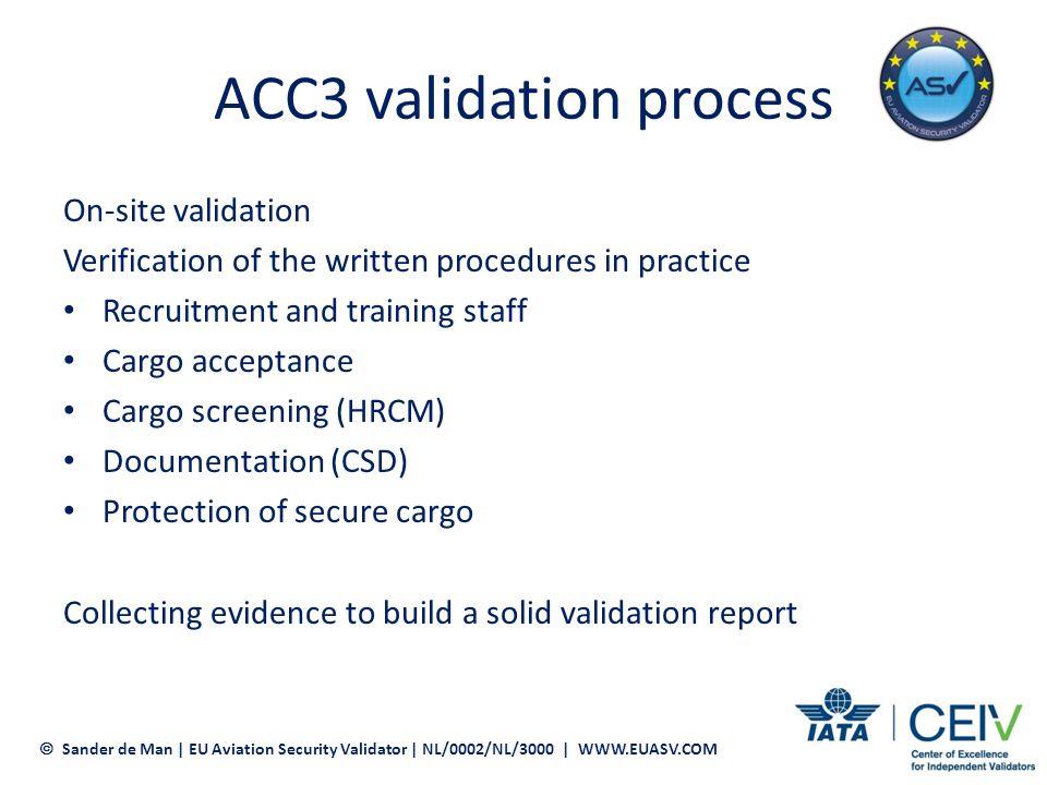ACC3 validation process