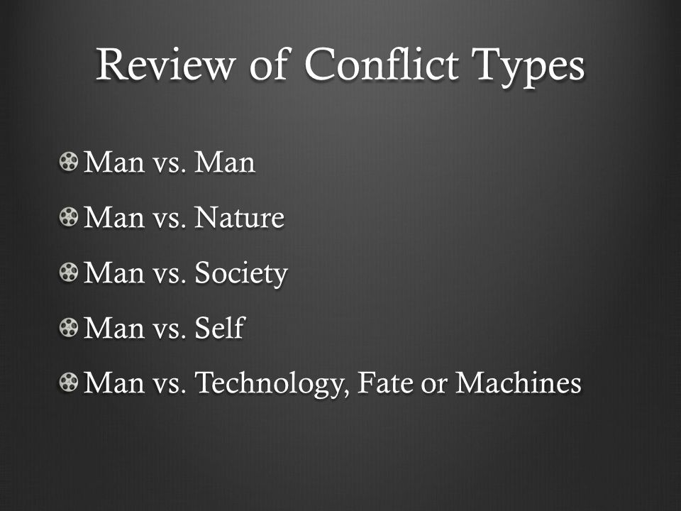 Review of Conflict Types