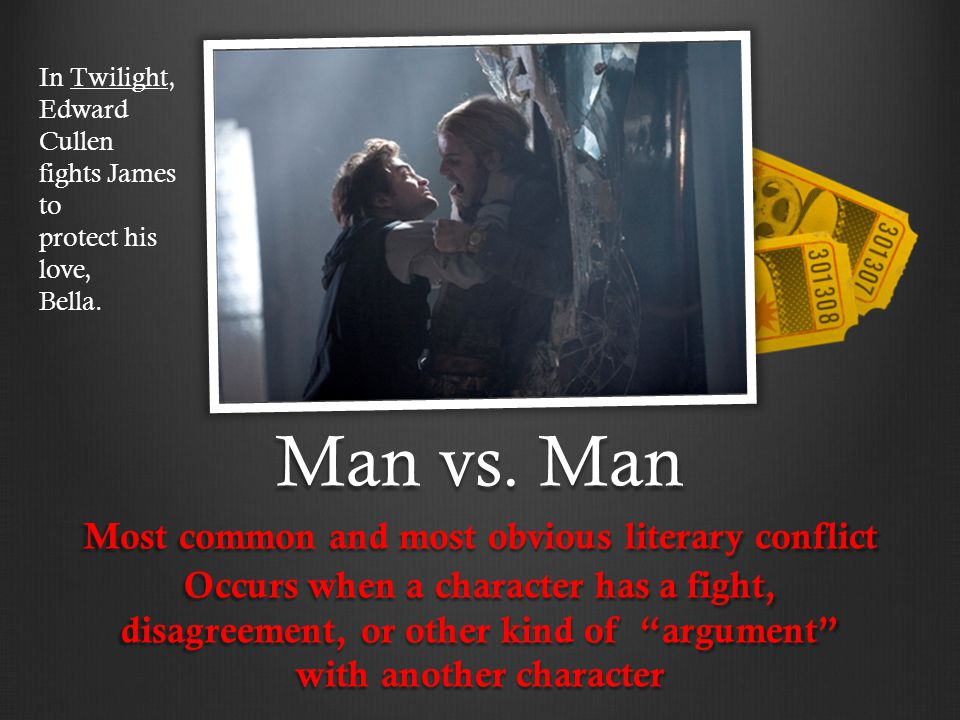 Most common and most obvious literary conflict